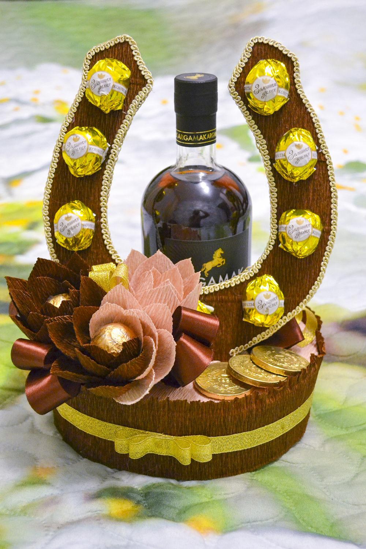 Открытка из бутылки коньяка