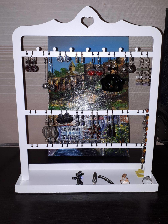 Фото №1 к отзыву покупателя Ирина о товаре Подставка для украшений с лотком