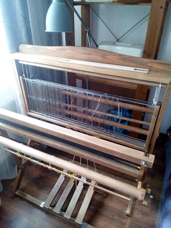Фото №1 к отзыву покупателя Lara Shu. Ручное ткачество о товаре Ткацкий станок складной 4-ремизный, 85 см