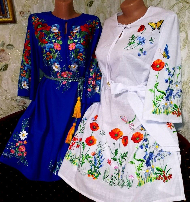 """Photo №1 к отзыву покупателя Alla Kemppi о товаре Платье c вышивкой """"Полевые цветы"""""""