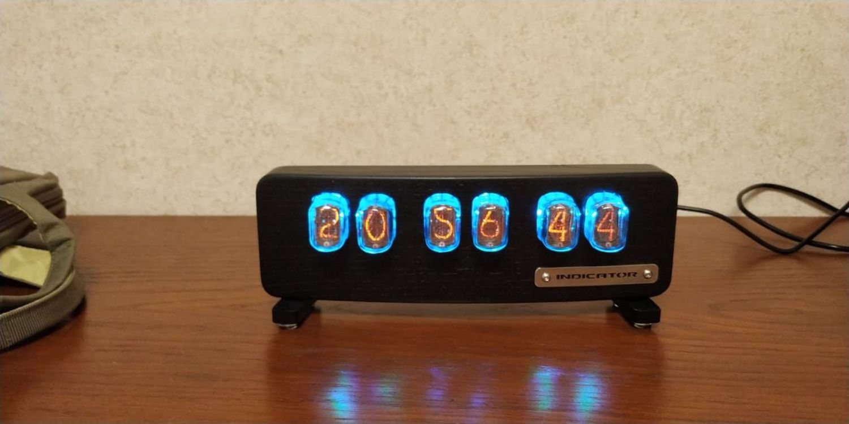 """Photo №1 к отзыву покупателя Korobkov Aleksej о товаре Ламповые часы """"Indicator"""" (ясень, цвет черный) + коробка"""
