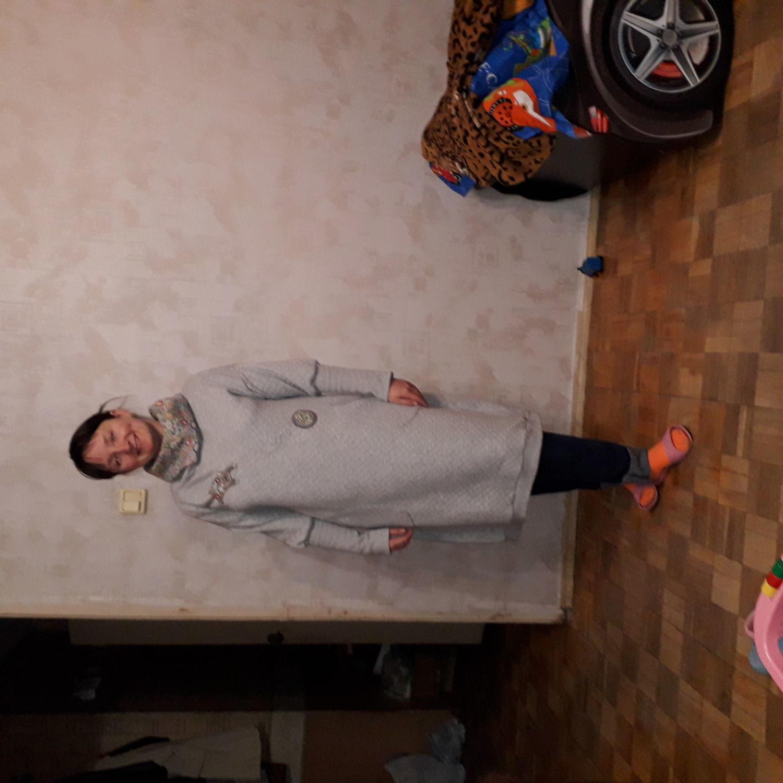 "Photo №2 к отзыву покупателя Nataliya Ustyugova о товаре Платья: Платье "" Серый кот"""