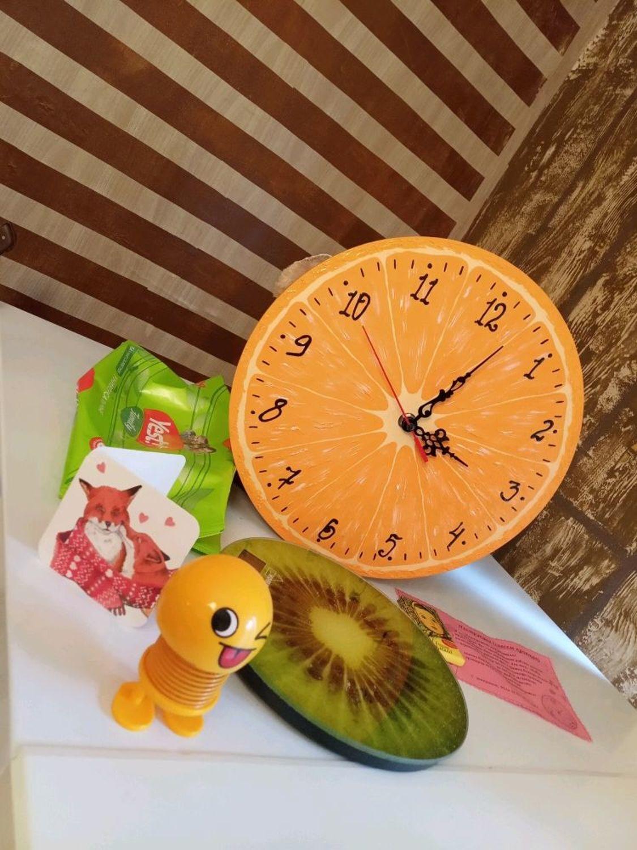 Photo №1 к отзыву покупателя Anastasiya Voronkova о товаре Кухонные настенные часы Лимон. Интерьерный подарок