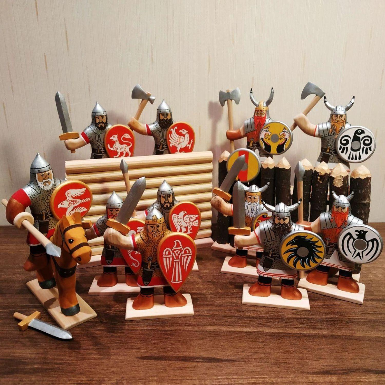 """Фото №1 к отзыву покупателя Ekaterina о товаре Игровой набор деревянные солдатики """"Витязи"""""""