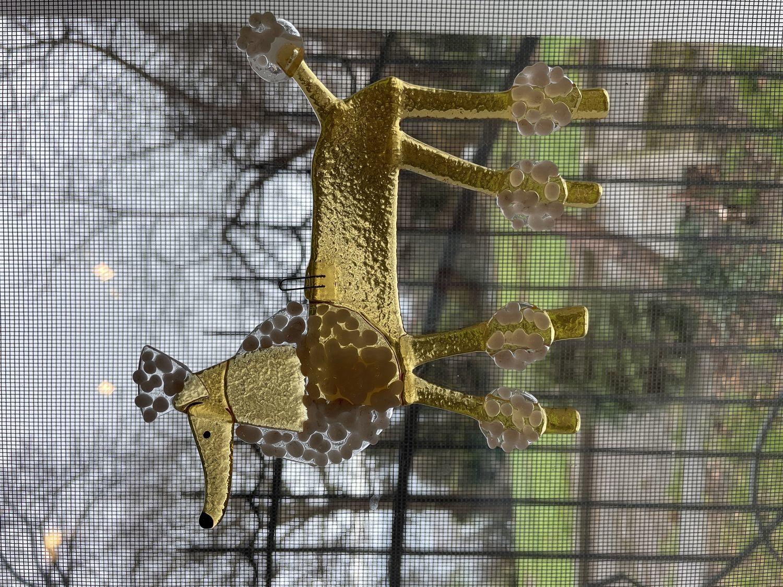 Фото №1 к отзыву покупателя Маша Павлова о товаре Пудель. Подвеска из стекла. и еще 3 товара