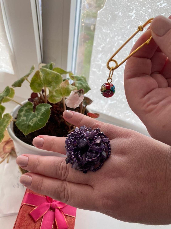 Фото №1 к отзыву покупателя Надежда Мазур о товаре Кольцо наборное с аметистами