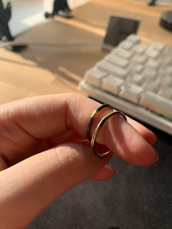 Фото №2 к отзыву покупателя Аня о товаре ДВА кольца / серебро, голдфилд 14Kt