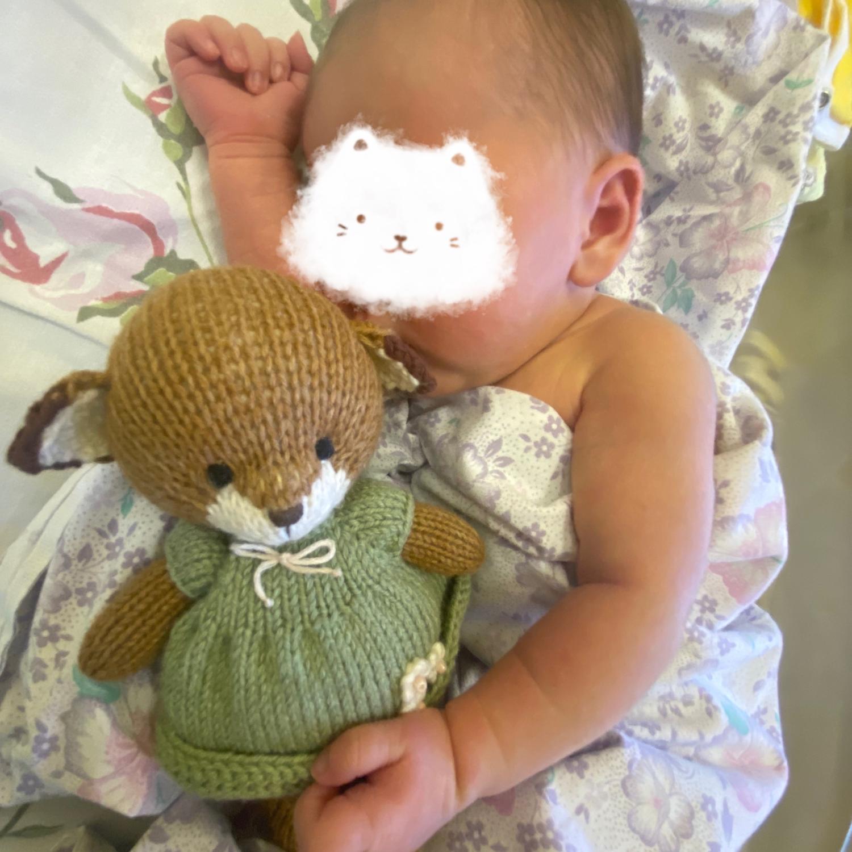 Фото №1 к отзыву покупателя Maria Soloveva о товаре Лисенок, вязаная игрушка