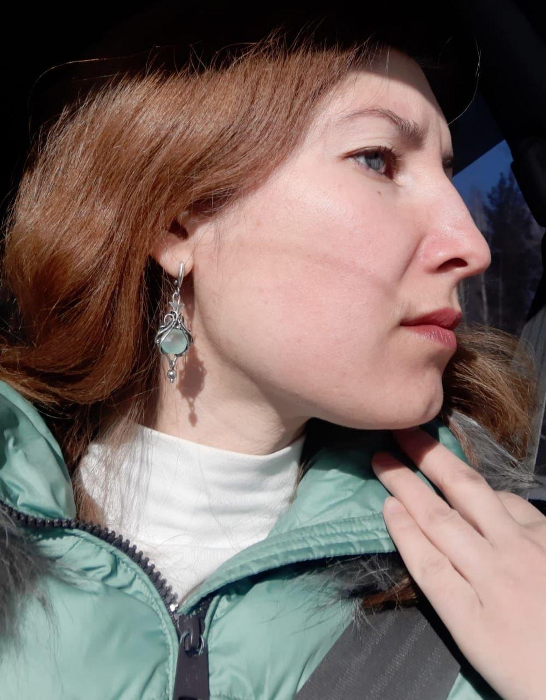 Фото №2 к отзыву покупателя Художественный дворик Любавы о товаре Кулон: серебряный с кабошоном из перламутра морской раковины и еще 1 товар