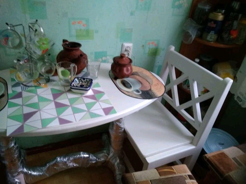 Photo №1 к отзыву покупателя Mariya о товаре Стол из массива кедра в стиле прованс Северная венеция