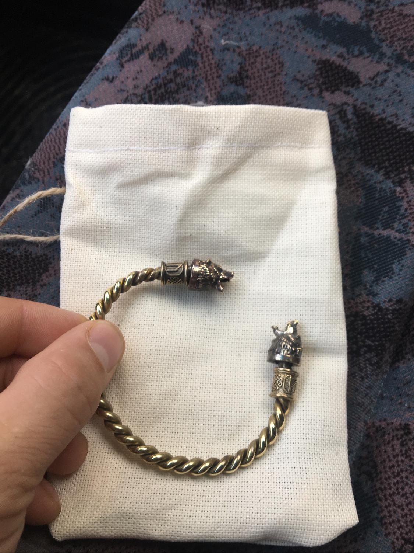 Photo №3 к отзыву покупателя Egor о товаре Бронзовый браслет ,браслет с медведям ,браслет викингов