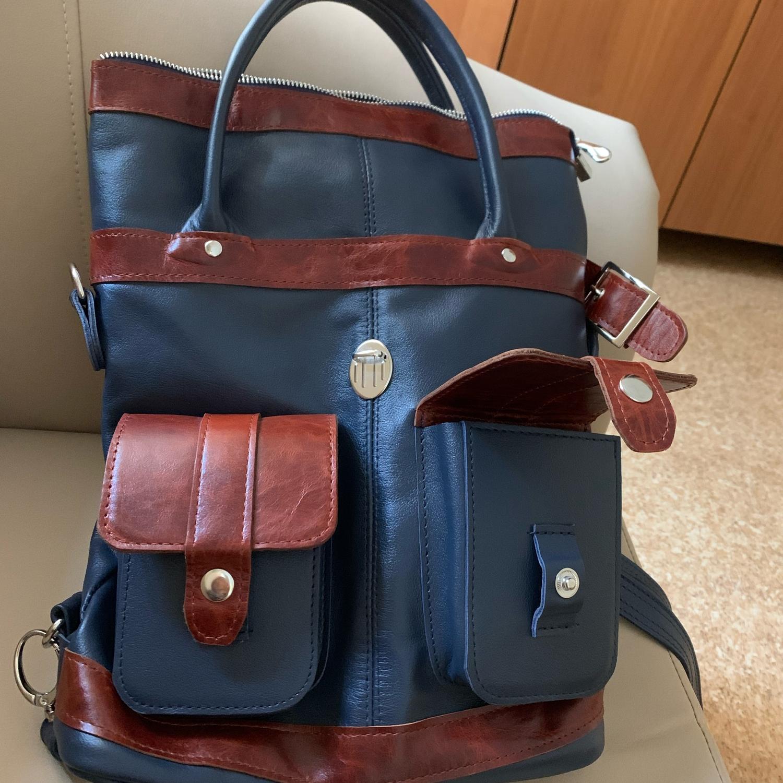 Photo №1 к отзыву покупателя Tatiana о товаре Рюкзак-сумка кожаный  93