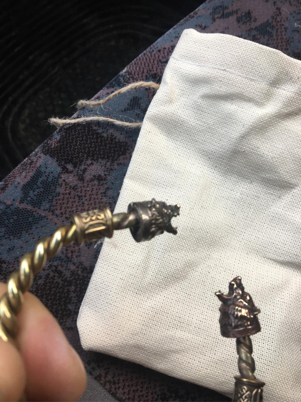 Photo №2 к отзыву покупателя Egor о товаре Бронзовый браслет ,браслет с медведям ,браслет викингов
