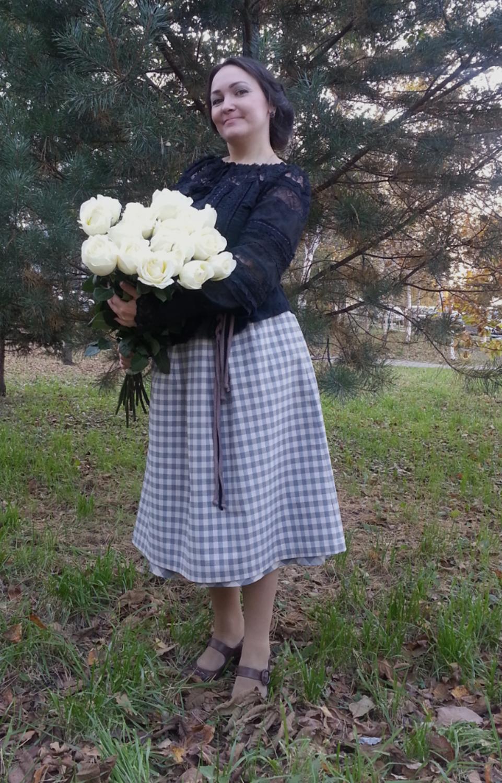 Photo №2 к отзыву покупателя Valentina Pahanova (Shlyakova) о товаре Блуза чёрная из шитья и кружева с длинными рукавами Одиллия