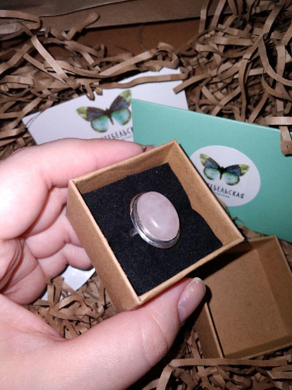 Photo №3 к отзыву покупателя Afina Pallada о товаре Кольцо розовый кварц