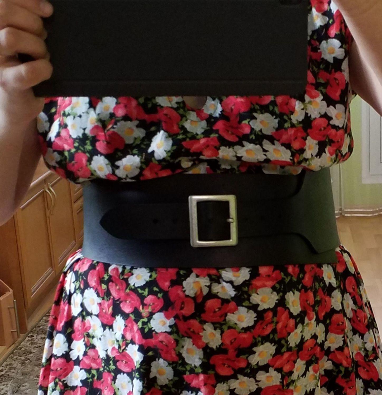 Фото №1 к отзыву покупателя Таня о товаре Ремень корсетный широкий кожаный LA BELLA Ремень-корсет Корсет кожаный