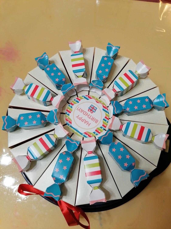 Фото №1 к отзыву покупателя Тараканов Георгий о товаре Торт на детский праздник, из конфет, угощение в сад, школу
