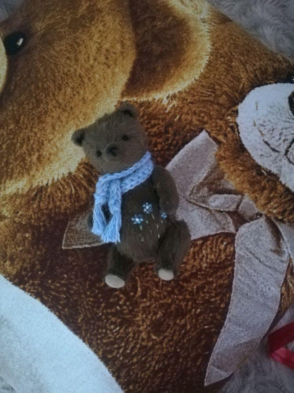 Фото №2 к отзыву покупателя Cheirurg о товаре Карманный мишка Тедди в голубом шарфике,11,5см.)