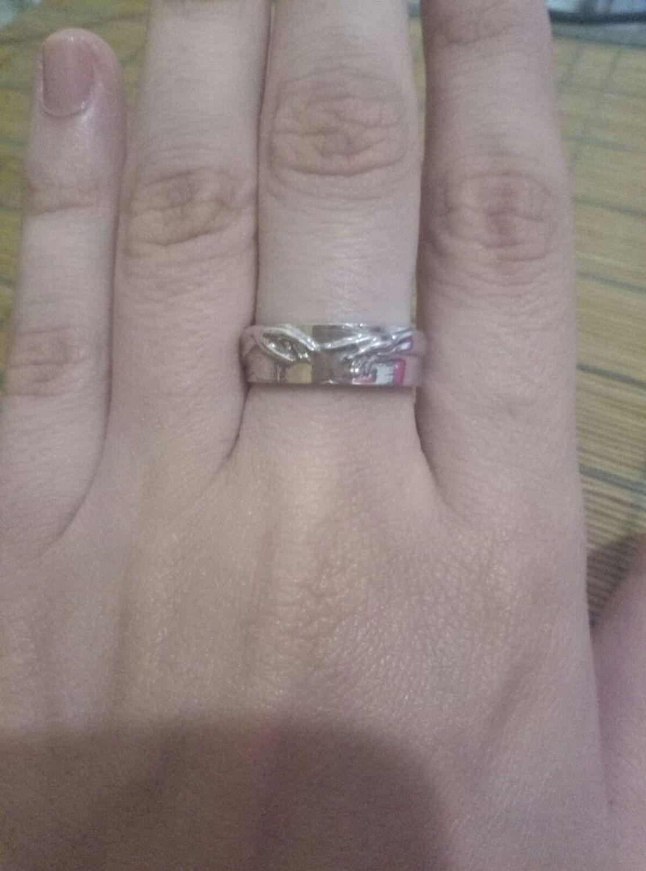 Photo №1 к отзыву покупателя Elizaveta о товаре Кольцо Сотворение Адама из серебра (Об30)