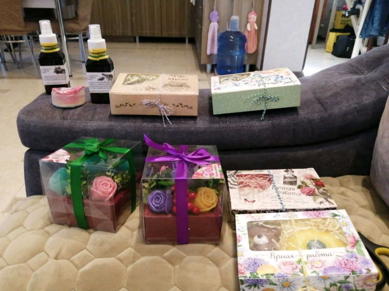 Photo №1 к отзыву покупателя Gazizova Regina о товаре Набор мыла Кофейный and 7 more items