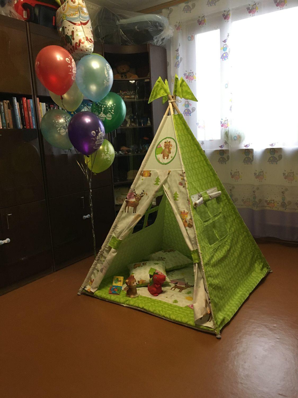 Фото №4 к отзыву покупателя Вика о товаре Детский вигвам, палатка, шалаш, типи