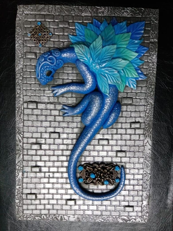 Photo №1 к отзыву покупателя Kosmos Nash о товаре Блокнот Синий Дракон ручной работы. Блокнот с нуля.
