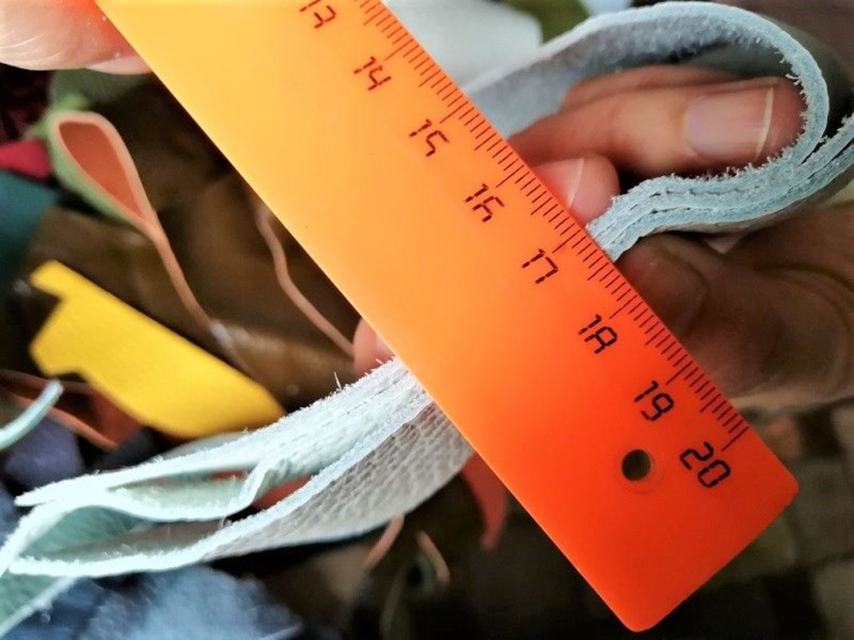 Фото №1 к отзыву покупателя Галина о товаре Обрезки, лоскутки натуральной кожи. 1 кг. и еще 1 товар