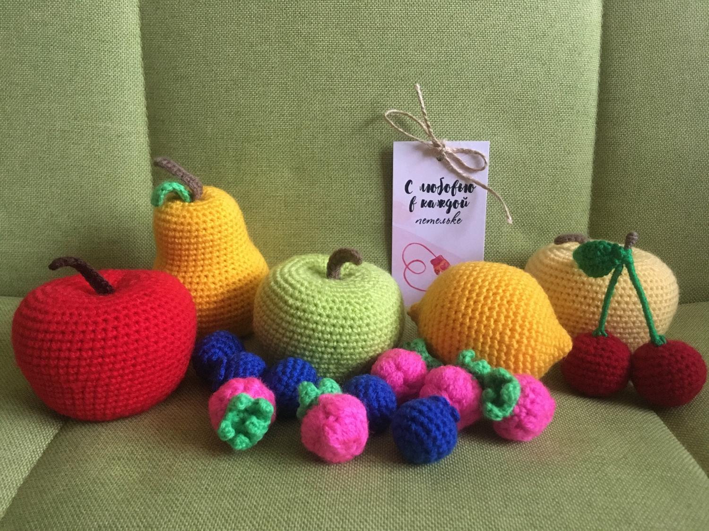 Photo №1 к отзыву покупателя Darya Yatchenko о товаре Вязаные фрукты и ягоды