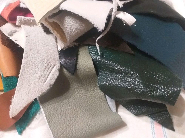 Фото №1 к отзыву покупателя Kaleidoscop о товаре Обрезки, лоскутки натуральной кожи. 1кг.