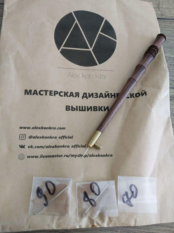 Фото №1 к отзыву покупателя Анна о товаре #LK10: Люневильский крючок для игл: 70,80,90