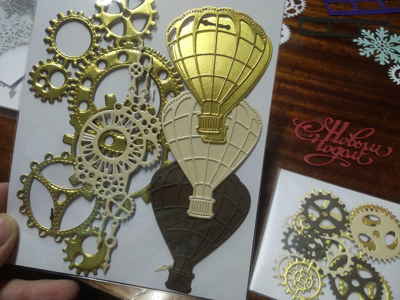 Фото №1 к отзыву покупателя Марина о товаре Вырубка для скрапбукинга: Воздушный шар с подложкой и еще 4 товара