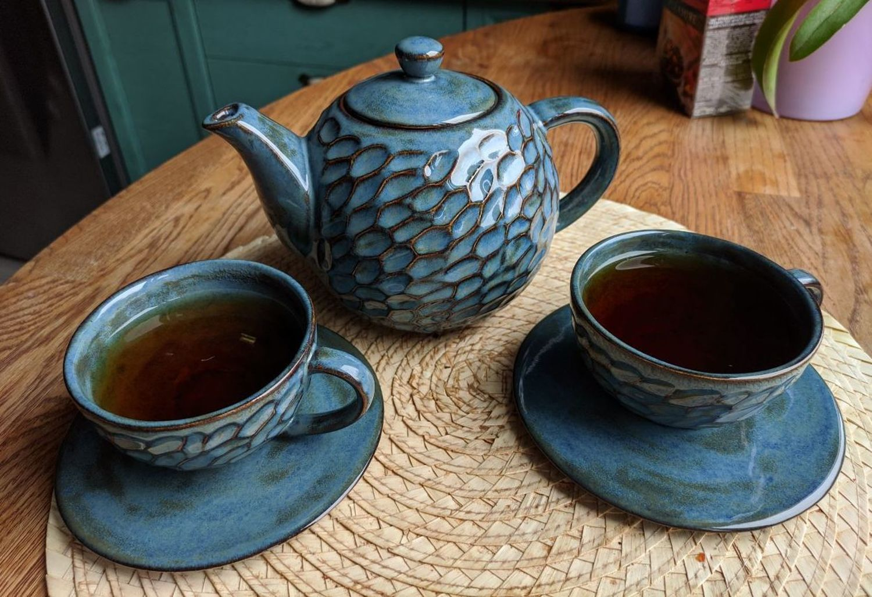 Фото №1 к отзыву покупателя Афанасия о товаре Керамический чайный сервиз Синяя жемчужина