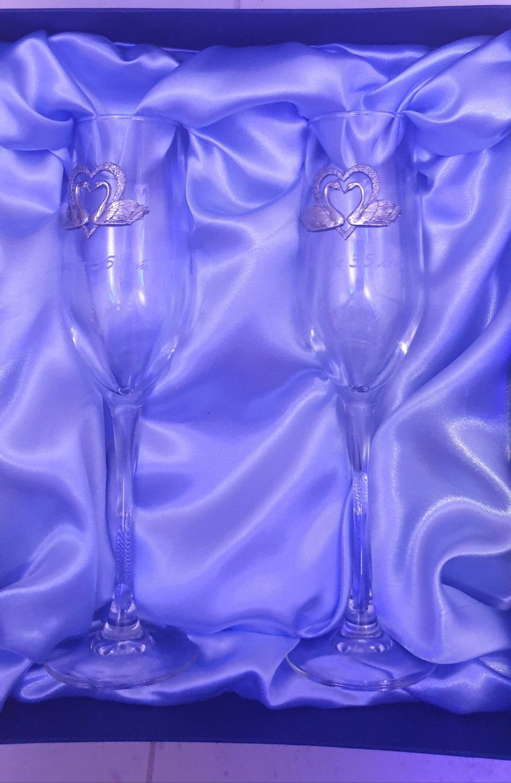 Фото №1 к отзыву покупателя Юлия о товаре Бокалы: На годовщину свадьбы 35 лет
