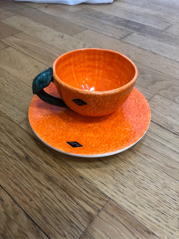 Photo №1 к отзыву покупателя Galina о товаре Новогодние мандаринки! Чайная пара ручной работы, керамика