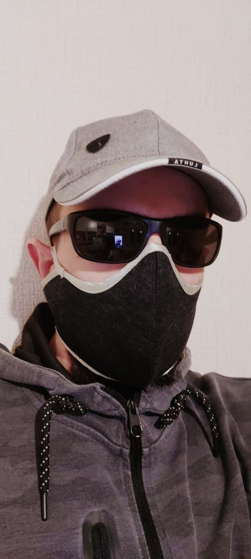 Photo №1 к отзыву покупателя Aleksandr Sergeevich о товаре Защитные маски: Маска защитная чёрная и вирусов унисекс