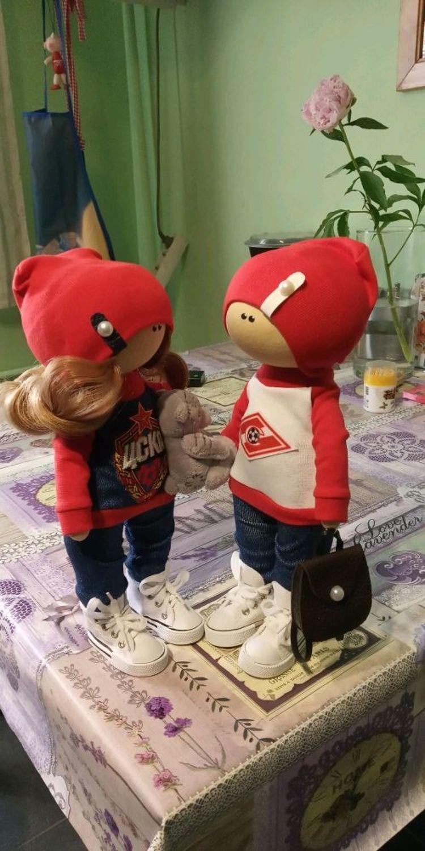 Фото №2 к отзыву покупателя Надежда Мурманцева о товаре Текстильная кукла ручной работы пара