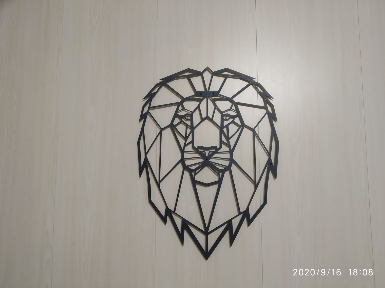 Фото №1 к отзыву покупателя Маслов Анатолий о товаре Декоративный ЛЕВ из металла настенное панно