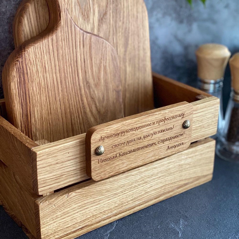 Фото №1 к отзыву покупателя Анна о товаре Разделочные доски. Комплект досок «Скандинавия лайт» в ящичке.
