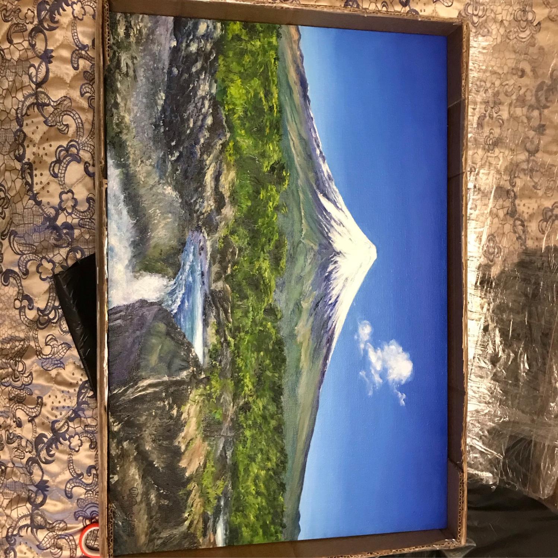 """Фото №1 к отзыву покупателя Chris Tine о товаре Вулкан Картина маслом на холсте - """"Чили. Вулкан Осорно"""""""