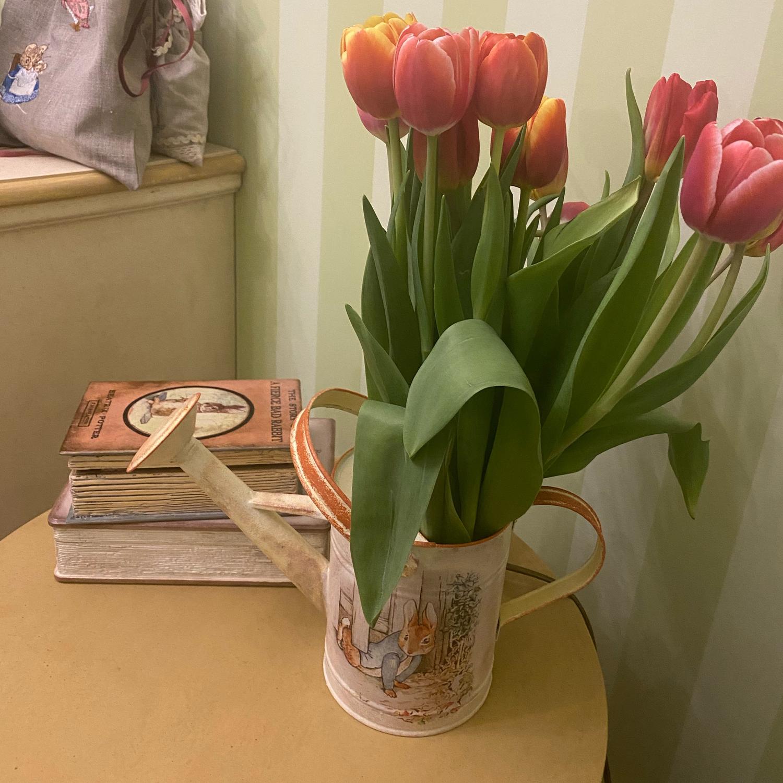 "Photo №1 к отзыву покупателя Ushki i Usiki о товаре Лейка декупаж ""Rabbit Piter"""