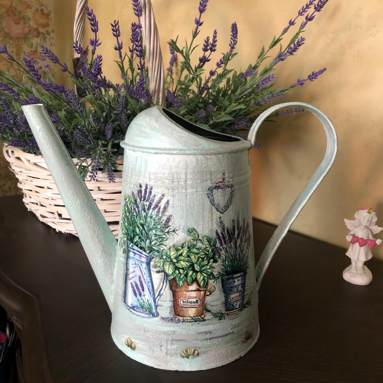 Photo №1 к отзыву покупателя Peterson Yuliya о товаре Лейка для полива цветов в стиле прованс