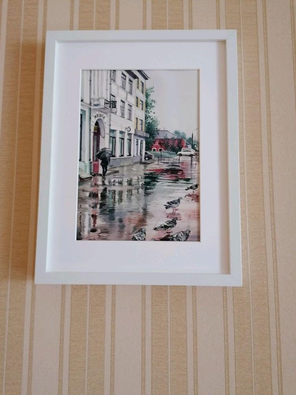 Фото №1 к отзыву покупателя Сергей Никитин о товаре Акварель Дождь в городе....