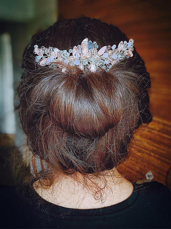 Photo №2 к отзыву покупателя Klimova Tatyana о товаре Украшения: Гребень для волос Розовые крылья ангела