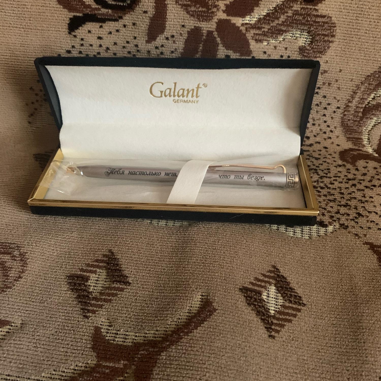 Photo №1 к отзыву покупателя Sergej Vikulin(FCSM) о товаре Ручка подарочная с гравировкой Galant 004