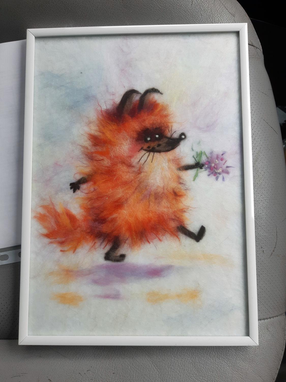 Photo №1 к отзыву покупателя Kosolapov Pavel о товаре Картина из шерсти Когда придет любовь