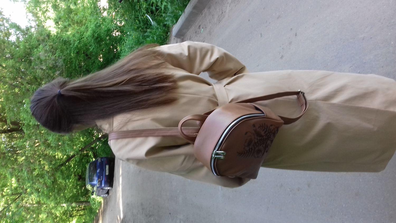 """Photo №1 к отзыву покупателя Vitalij Gubin о товаре Рюкзак кожаный """" Оранжевый"""""""