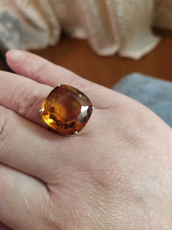 "Photo №1 к отзыву покупателя Tatyana о товаре Цитрин. ""Селеста"" кольцо с цитрином 18 карат"