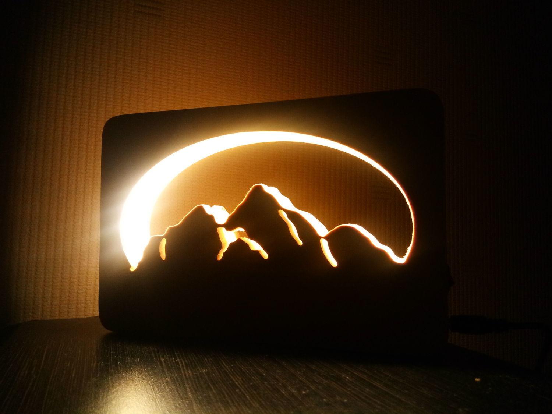 Photo №1 к отзыву покупателя Anna о товаре Ночник Горы светильник на память, оригинальный подарок