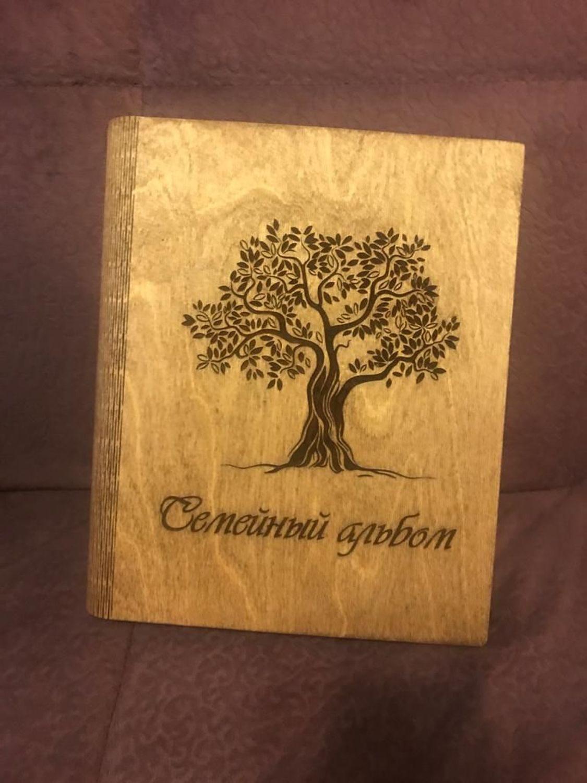 Фото №1 к отзыву покупателя Nikita о товаре Семейный альбом с деревянной обложкой