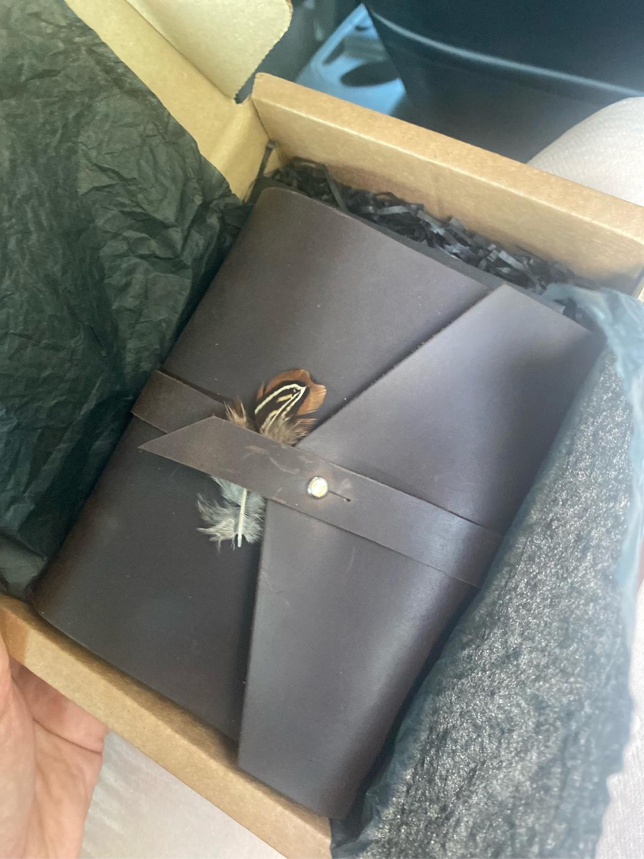 Фото №1 к отзыву покупателя Sveta о товаре Кожаный блокнот на кольцах А6 компактный блокнот из натуральной кожи